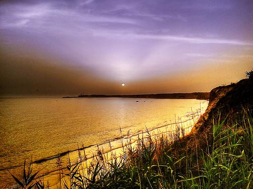 Puesta de sol desde el Roqueo