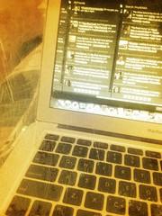 Computer with Tweetdeck by RoniLoren