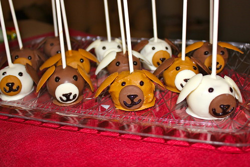 Puppy Party Cake Pops
