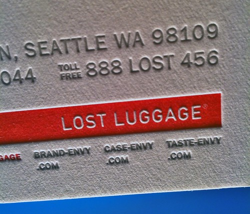 Lost Luggage Letterpress Stationery