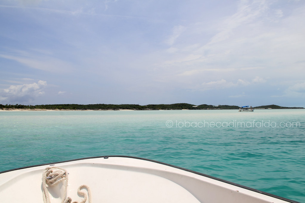 Stocking Island by boat, Exuma, Bahamas