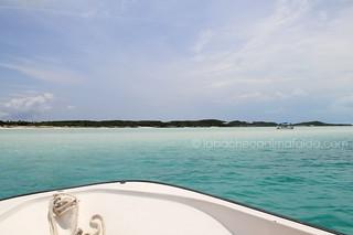 Stocking Island by boat, Exuma, Bahamas