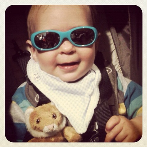 Theo in sunnies...
