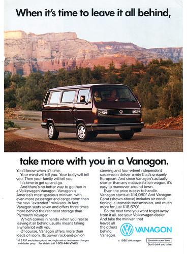 VW Vanagon T3 Ad 1990