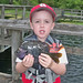 Child with Bluegill
