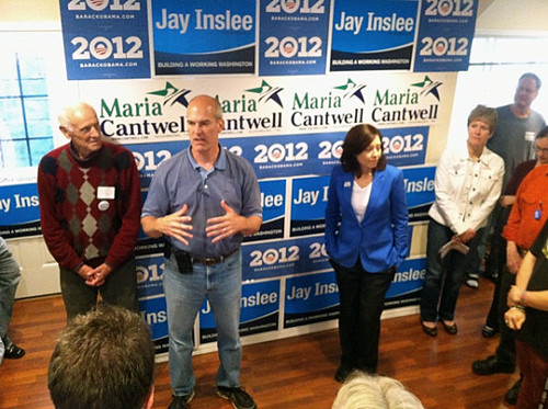 Rep. Rick Larsen and Maria Cantwell at our Everett office opening