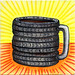 I drew you a tires themed mug of coffee