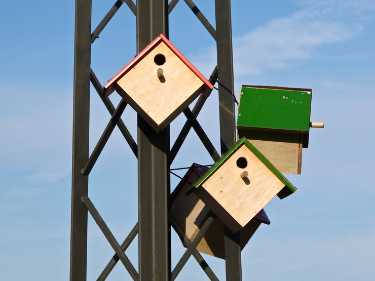 Fancy birdhouses