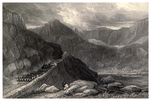 006-Paso en las montañas de Nant Frangon-Wanderings and excursions in North Wales (1853)- Thomas Roscoe