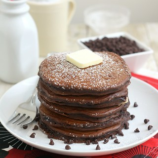 Chocolate Cookie Dough Pancakes