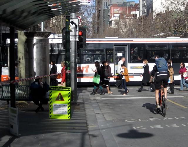 Swanston Street:Lonsdale Street没有更多的电车站