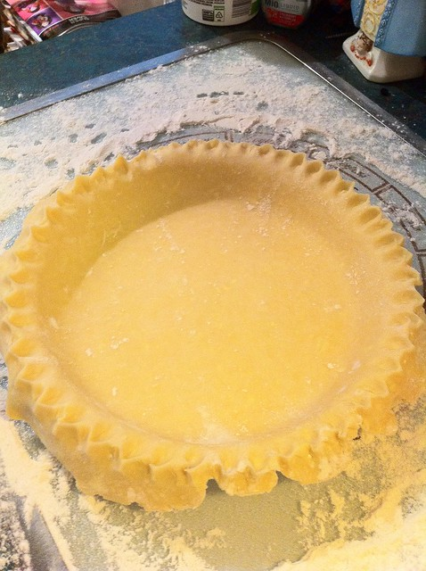 Pie Crust with Crimped Edges