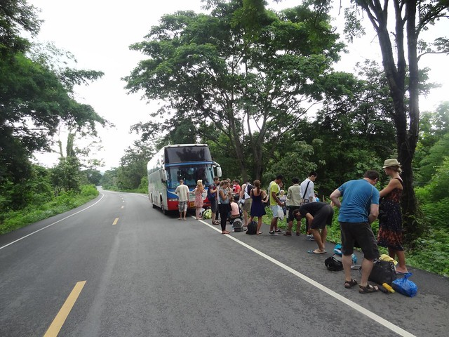 thai bus broken down