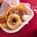 Duck Fat-Fried Potato Chips & Onion Ring with Cassoulet @ Rouge & White Garden Party