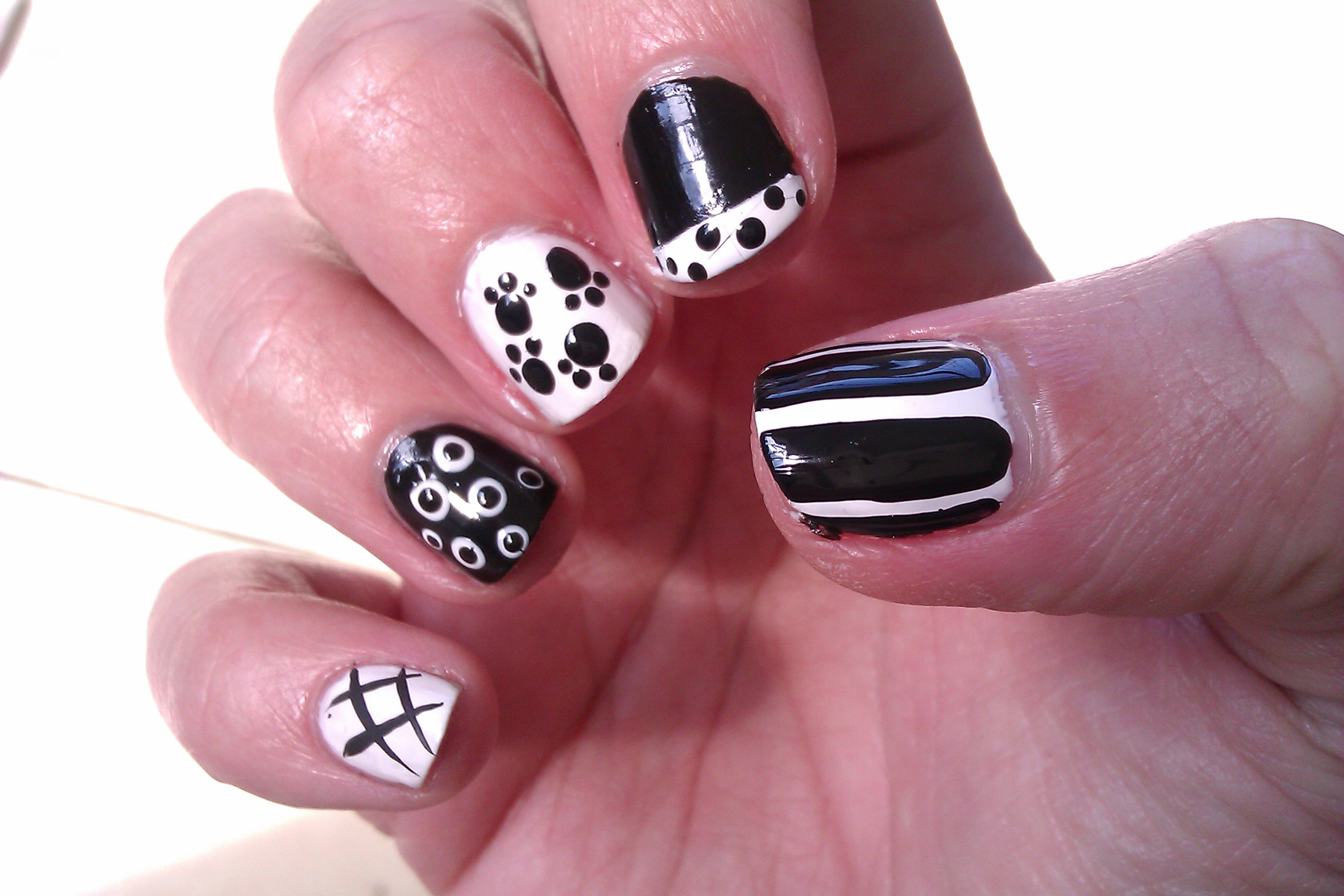 Fancy easy black and white nail designs for short nails 23 according  inspiration articleEasy Black And White Nail Designs For Short Nails   slybury com. Easy At Home Nail Designs For Short Nails. Home Design Ideas