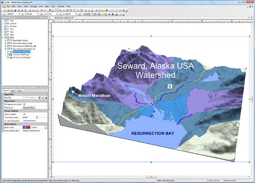 Golden Software Releases Surfer 11 with Watershed Maps and Map