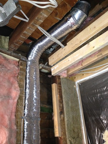 New heat duct for Xander's room