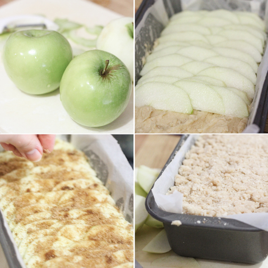 Apple Crumble Loaf Cake