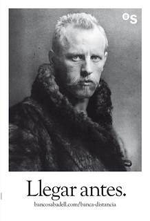 Fridtjof Nansen, primer hombre que consiguió superar la latitud de 86° 14´ N y acercarse más al Polo Norte en el siglo XIX