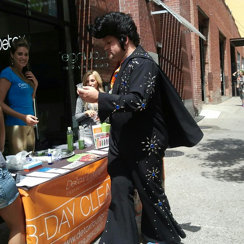 Elvis Tastes a Health Drink by Jodi K.