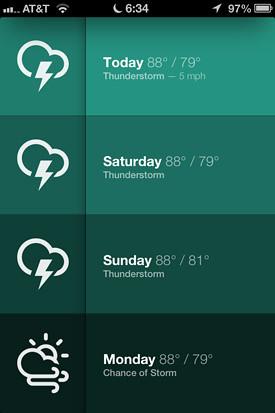 Sun: el app del tiempo más simple y minimalista para iPhone