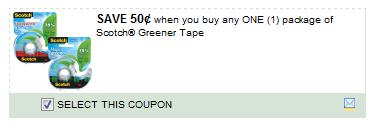 $0.50/1 Scotch Greener Tape Coupon