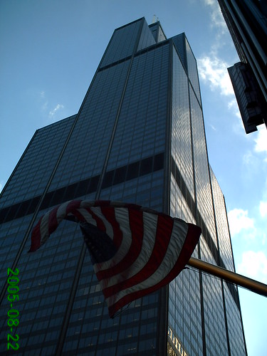 flag and sears tower