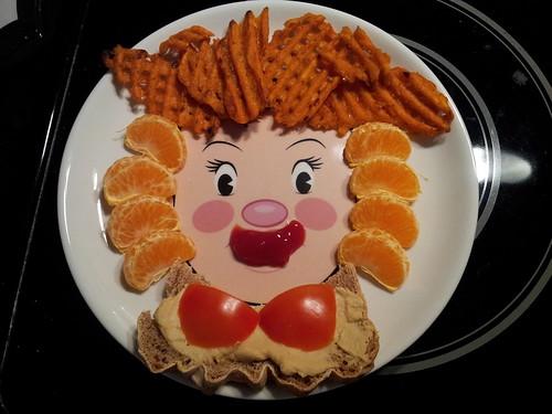 Red-Orange Food Face