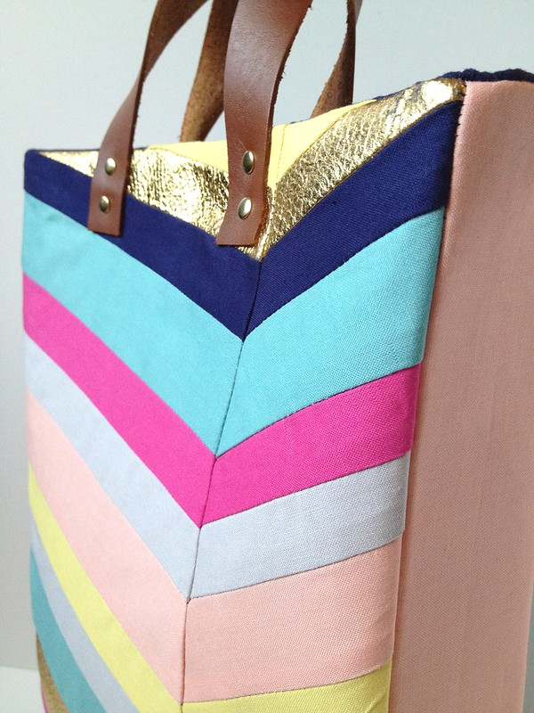 Art-Inspired Chevron Tote Bag 21
