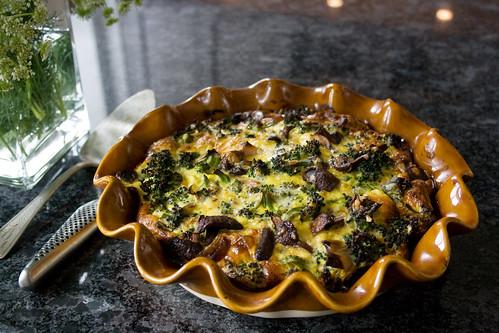 Mushroom & Broc Frittata