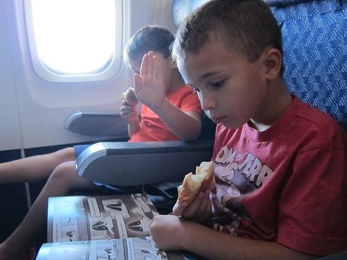 Croissants on the plane