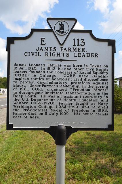 James Farmer Jr., Civil Rights Leader (Spotsylvania County ...