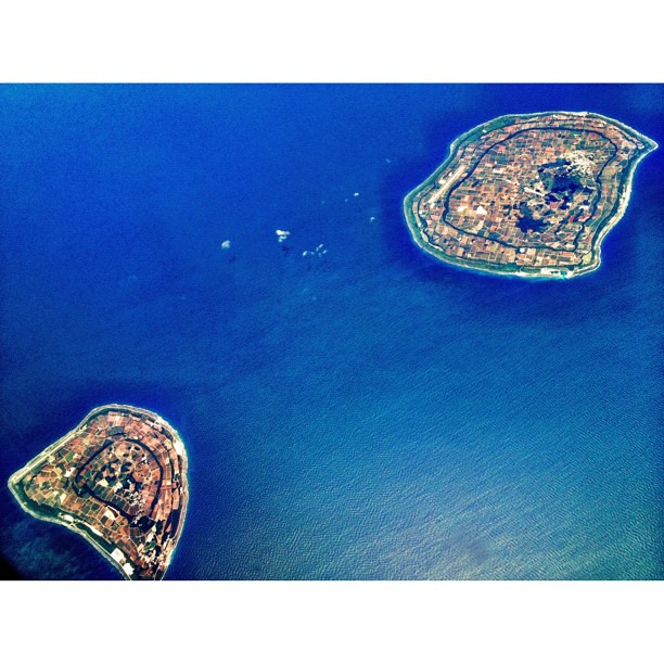 Minami and Kita Daito-jima (Okinawa Perfecture) view from plane