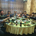 Having diner with friends in Jingning, Zhejiang