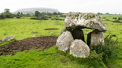 Tomb #7 at Carrowmore, Knocknarea beyond
