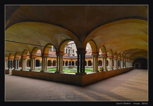 The cloister of St. Andrew's Basilica - Vercelli - Italy