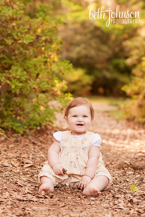 tallahassee baby girl backlight maclay gardens photography photographer