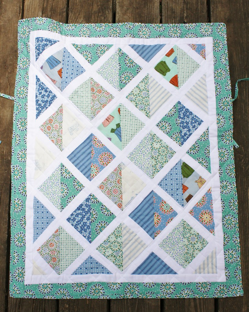 Car seat quilt all done!