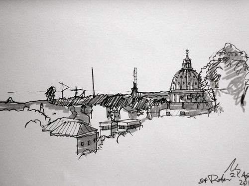 Saint Peter´s Dome in Rome 2012 by manfred schloesser