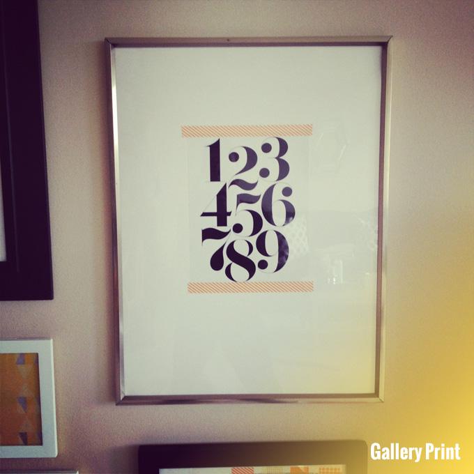 gallery print washi tape art