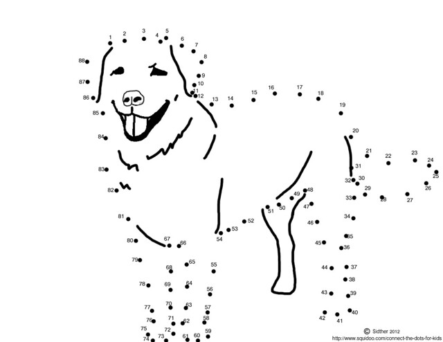 Connect The Dots For Kids Dog Retriever