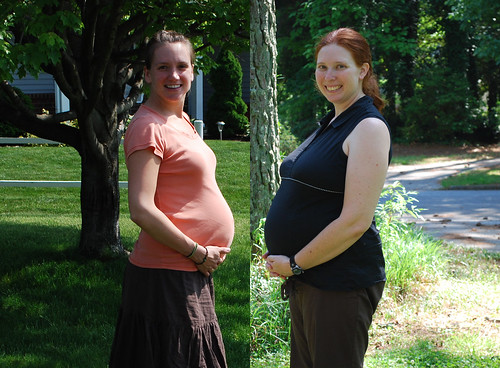 Bump Picture - 30 and 27 weeks, respectively
