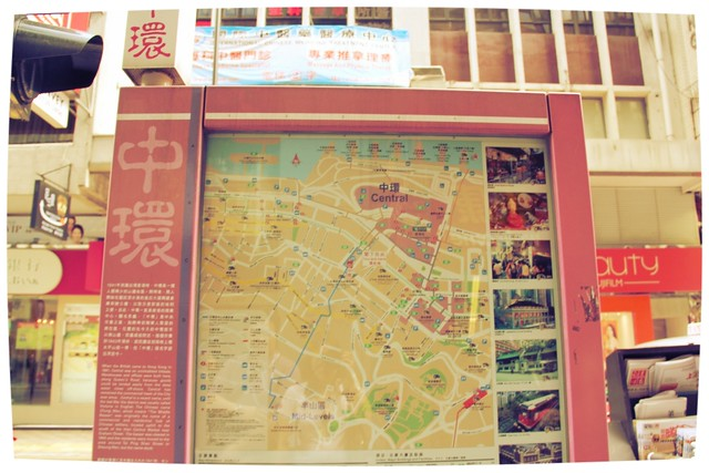 Central street map Hong Kong