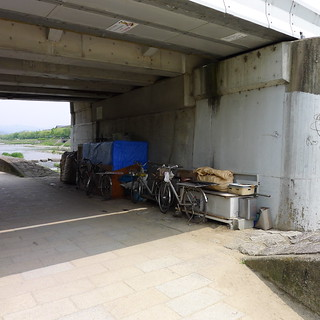 Homeless Kamo River Kyoto