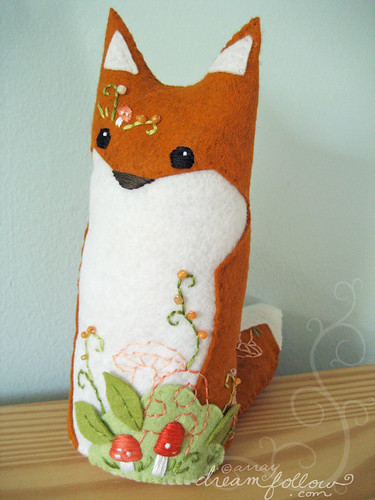 ooak fox plush Goldenrod