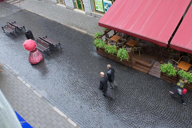 View on a street. Lviv, Ukraine