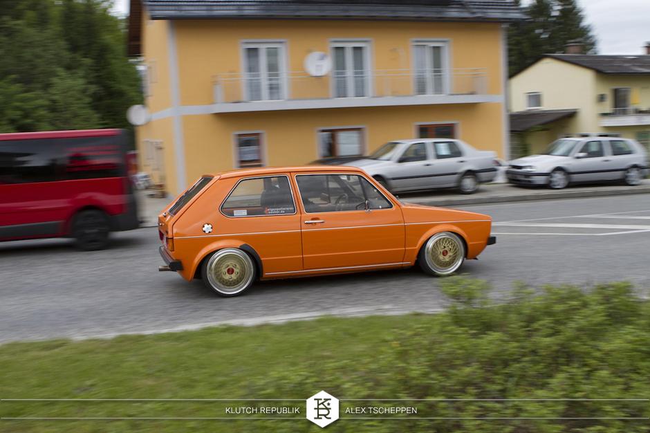 orange mk1 vw rabbit fitted at worthersee gti treffen 2012