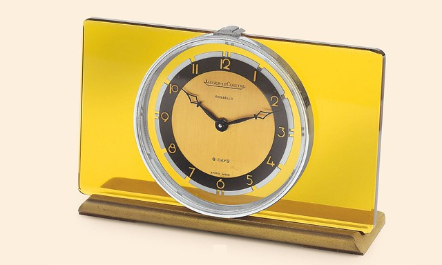 Jaeger-LeCoultre Desk Clock retailed by Rossello 1940