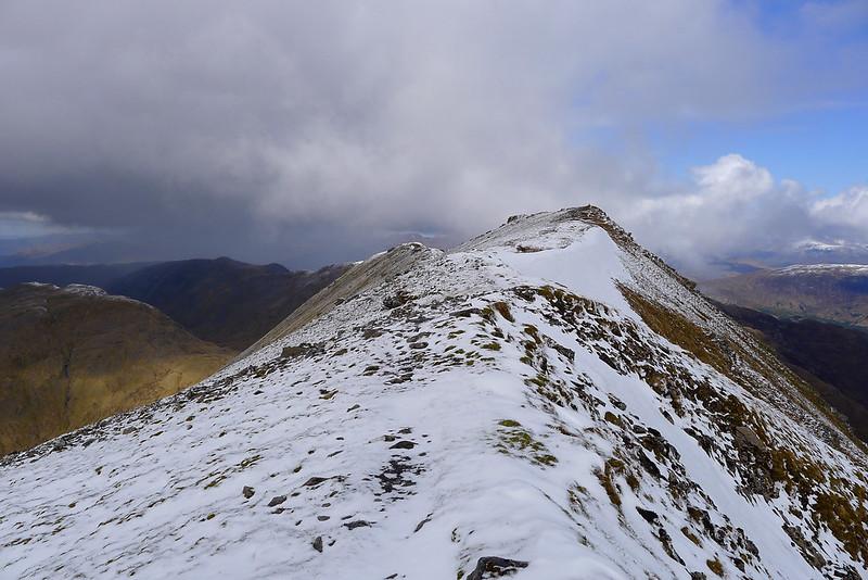Towards the summit of Sgurr Choinnich