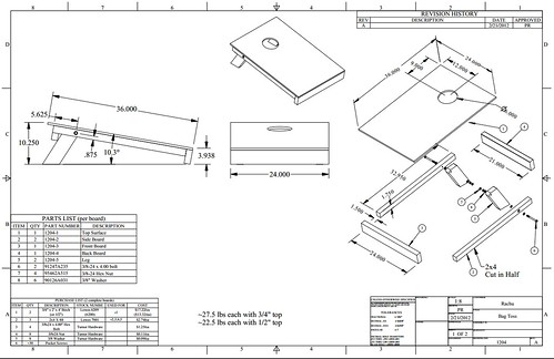nesting travel boards  with building specs   u2022 cornhole
